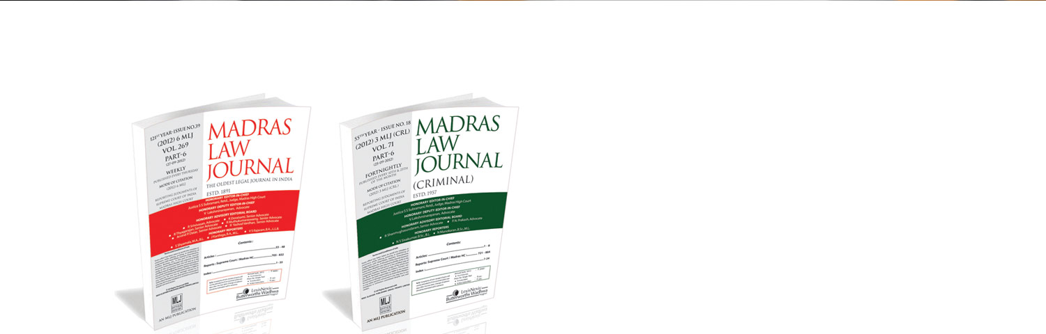 Madras Law Journal Special Offer